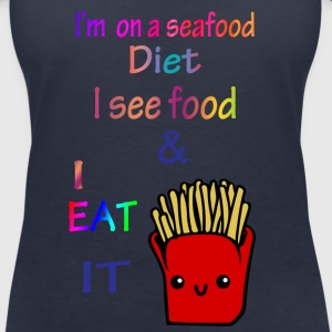 I'm on a sea food diet. - Women's V-Neck T-Shirt