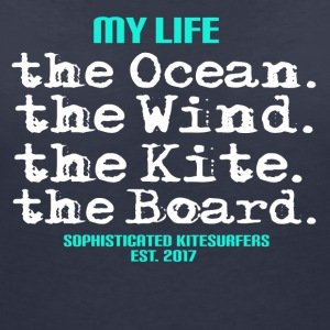 KITESURFING KITEBOARDING - MY LIFE - Women's V-Neck T-Shirt