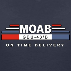 MOAB - moeder van alle bommen (Mother Of All Bombs) - Vrouwen T-shirt met V-hals