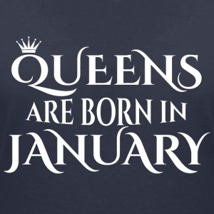 Queens are born in January - Women's V-Neck T-Shirt