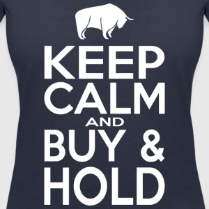 Keep Calm and Buy - Hold - Women's V-Neck T-Shirt