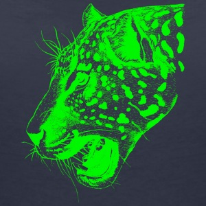 Leopard green, leopard, big cat, - Women's V-Neck T-Shirt