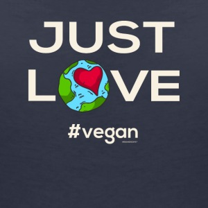 "Vegan T-Shirt ""Just LOVE #vegan"" - T-skjorte med V-utsnitt for kvinner"