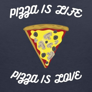 ♥ Pizza is Life ♥ Pizza is Love ♥ Fun T-Shirt - Frauen T-Shirt mit V-Ausschnitt
