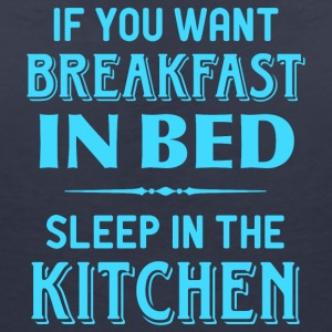 breakfast kitchen in bed breakfast in bed kitchens - Women's V-Neck T-Shirt