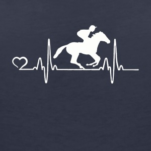 Horse Racing - Heartbeat - Women's V-Neck T-Shirt