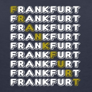 Frankfurt font white - Women's V-Neck T-Shirt