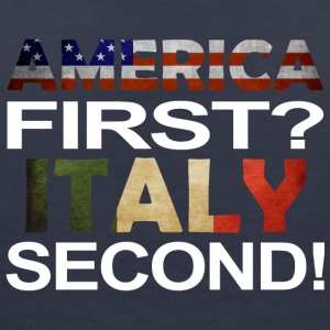 America first Italy second - Women's V-Neck T-Shirt