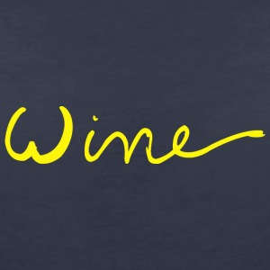 Wine art logo YELLOW - Women's V-Neck T-Shirt