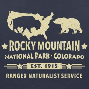 Bison Grizzly Rocky Mountain National Park Berg - T-shirt med v-ringning dam