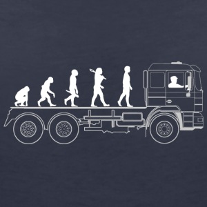 Truck evolution - Women's V-Neck T-Shirt