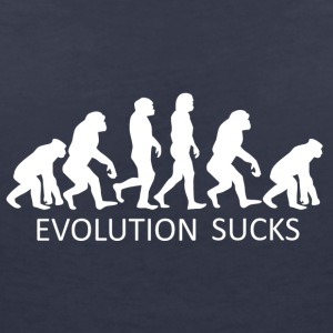 ++ ++ Evolution Sucks - T-skjorte med V-utsnitt for kvinner