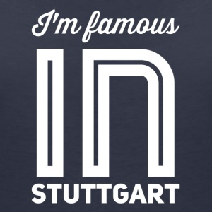 Im famous in stuttgart white - Women's V-Neck T-Shirt