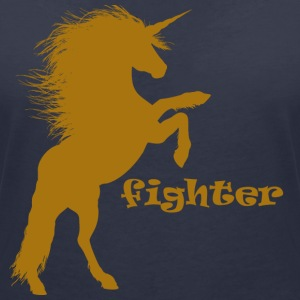 Fighting Unicorn - Women's V-Neck T-Shirt