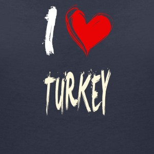 I love turkey - Women's V-Neck T-Shirt