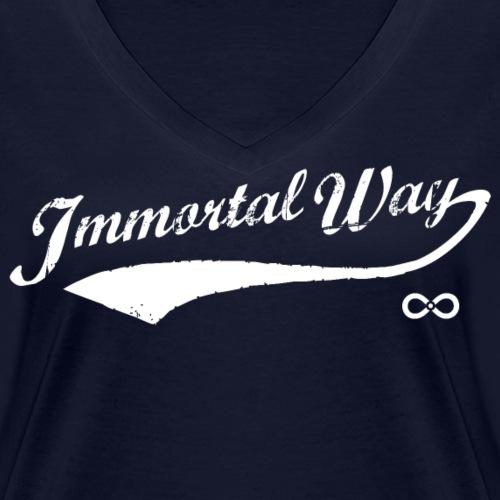 Immortal Way Retro Classic - Women's Organic V-Neck T-Shirt by Stanley & Stella