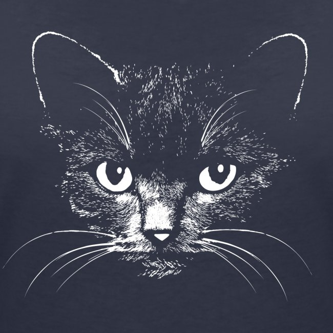 Vorschau: black cat - Frauen Bio-T-Shirt mit V-Ausschnitt von Stanley & Stella