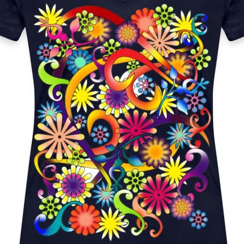 Potere floreale - T-shirt ecologica da donna con scollo a V di Stanley & Stella
