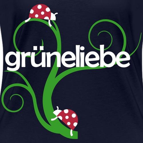 Grüneliebe - Marienkäfer auf Grashalmen - Frauen Bio-T-Shirt mit V-Ausschnitt von Stanley & Stella
