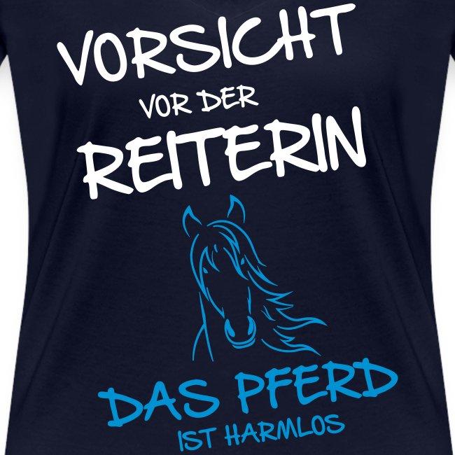 Vorschau: Vorsicht vor der Reiterin - Frauen Bio-T-Shirt mit V-Ausschnitt von Stanley & Stella