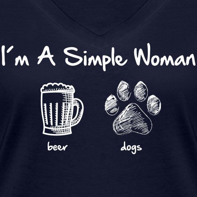 Vorschau: simple woman beer white - Frauen Bio-T-Shirt mit V-Ausschnitt von Stanley & Stella