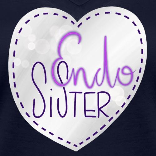 Endo sister Herz - Frauen Bio-T-Shirt mit V-Ausschnitt von Stanley & Stella