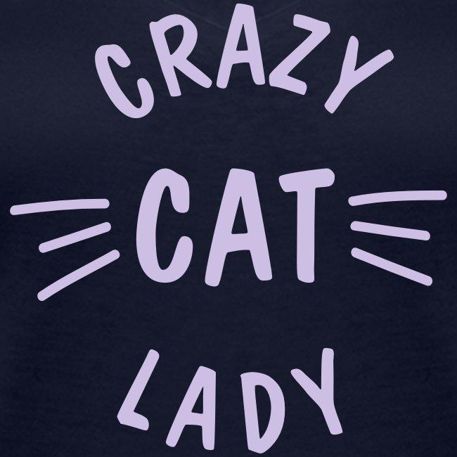 Vorschau: Crazy Cat Lady meow - Frauen Bio-T-Shirt mit V-Ausschnitt von Stanley & Stella