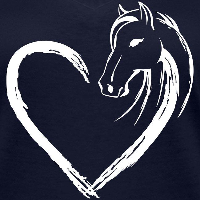 Vorschau: Pferde Herz - Frauen Bio-T-Shirt mit V-Ausschnitt von Stanley & Stella