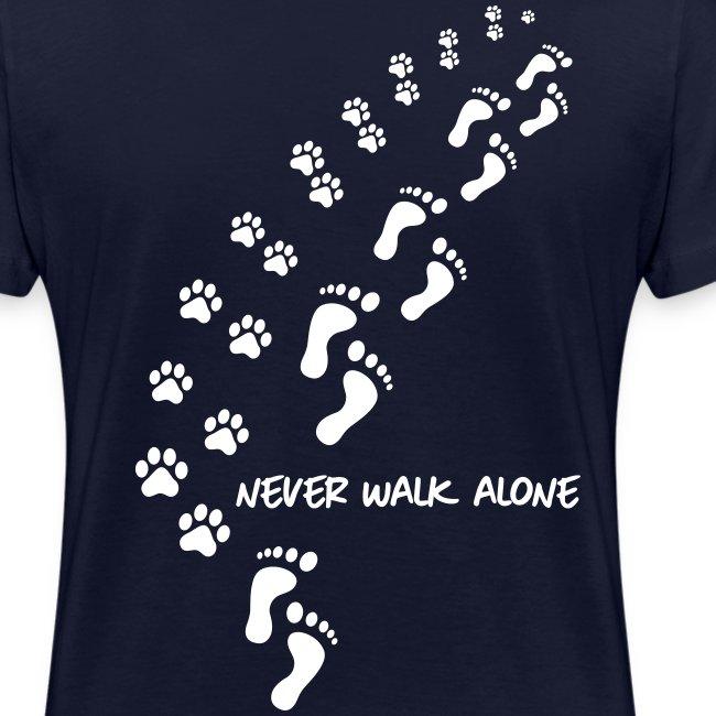 Vorschau: never walk alone dog - Frauen Bio-T-Shirt mit V-Ausschnitt von Stanley & Stella
