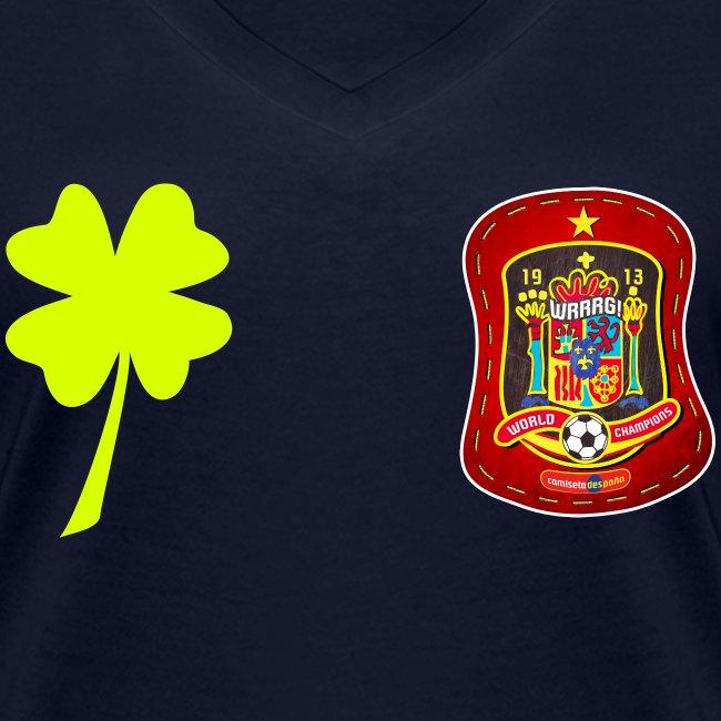 Trébol de la suerte / Escudo rojo / Espalda