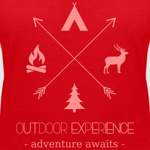 Outdoor Experience Adventure Awaits - Women's V-Neck T-Shirt