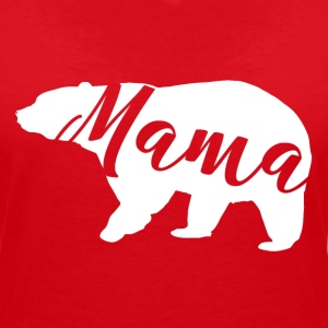 Mummy bear - Women's V-Neck T-Shirt