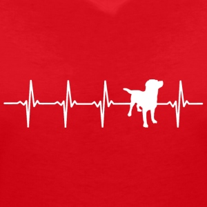 Great Dane - Heartbeat - Women's V-Neck T-Shirt