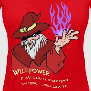 Willpower Wizard Red/Purple Flame - Vrouwen T-shirt met V-hals