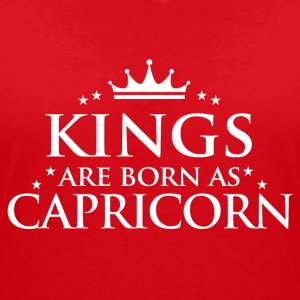 Kings are born as Capricorn - Women's V-Neck T-Shirt