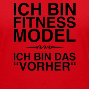 Fitness Model - I am the before (black) - Women's V-Neck T-Shirt