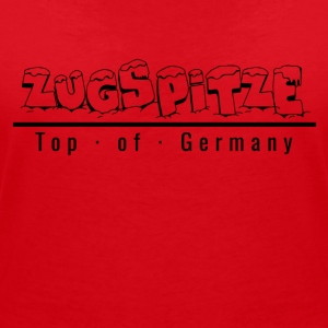 Zugspitze with snow - Top of Germany - Women's V-Neck T-Shirt