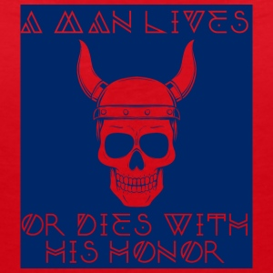 Vikings: A Man Lives Or With His Honor - Women's V-Neck T-Shirt