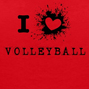 iLove volley-ball - T-shirt col V Femme