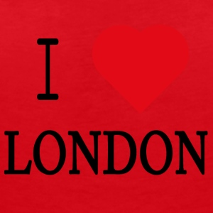 I Love London - T-skjorte med V-utsnitt for kvinner