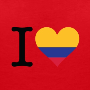I Love Colombia - Women's V-Neck T-Shirt