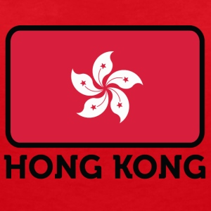 National Flag Of Hong Kong - Women's V-Neck T-Shirt