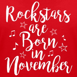 Rockstars are born in November - Women's V-Neck T-Shirt