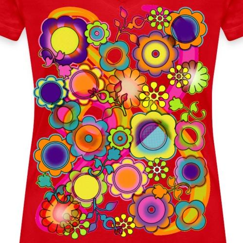 Potere dei fiori - T-shirt ecologica da donna con scollo a V di Stanley & Stella