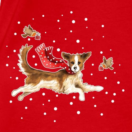 Suza met sneeuwvlokken - Vrouwen bio T-shirt met V-hals van Stanley & Stella