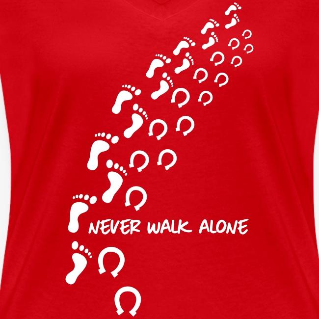 Vorschau: never walk alone horse - Frauen Bio-T-Shirt mit V-Ausschnitt von Stanley & Stella