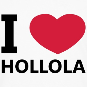 I Love Hollola - Premium langermet T-skjorte for menn