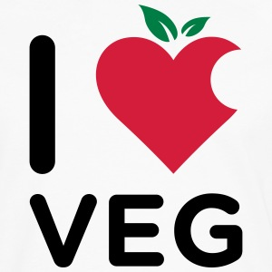 I Love Veg logo made from a mix of heart and fruit - Maglietta Premium a manica lunga da uomo