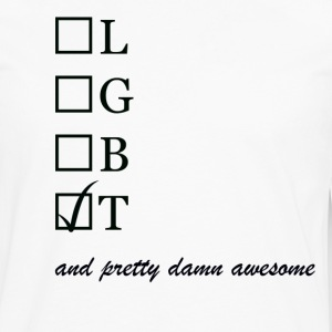 Mens / Trans and pretty damn awesome - Herre premium T-shirt med lange ærmer