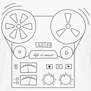 magnetic tape recorder - Men's Premium Longsleeve Shirt